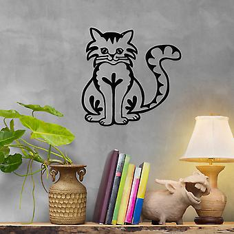 Happy Cat Metal Wall Art Decor