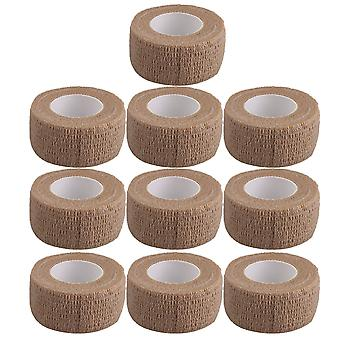 10Pieces Breathable Cohesive Bandage Self-Adherent Tape Width 2.5cm