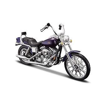 Maisto Harley Davidson 2001 FXDWG Dyna Wide Glide Purple - 1:18