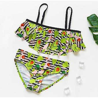 Badeanzug Kinder Bademode 3-14y Mädchen Bikini Set