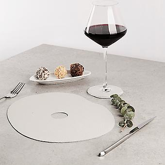 Natural Leather Placemat And Coaster