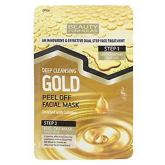 Beauty Formulas Gold Deep Cleansing Peel Off Facial Mask Enriched With Collagen