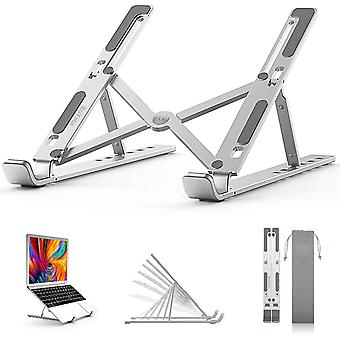BoYata Laptop Stand, Foldable Lightweight Laptop Riser Tablet Stand (White)