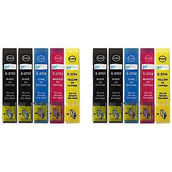 2 Set di 4 cartucce di inchiostro nero extra per sostituire Epson T2705 - T2701 (27 Serie) Compatibile/non OEM da Go Inks (10 inchiostri)