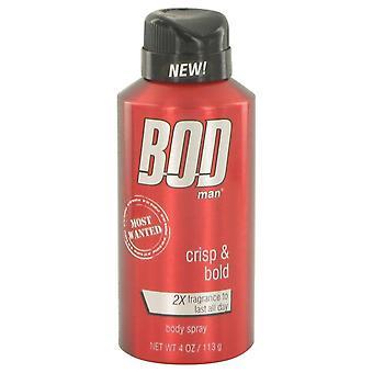 BOD mies Most Wanted tuoksu Body Spray Parfums De Coeur 4 oz tuoksu Body Spray