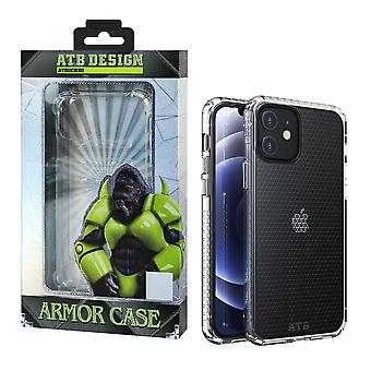 iPhone 12 Mini Hoesje Transparant - HoneyComb