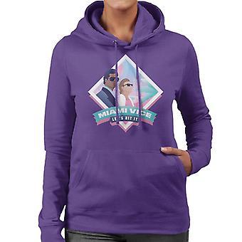 Miami Vice Lets Hit It Women's Hooded Sweatshirt
