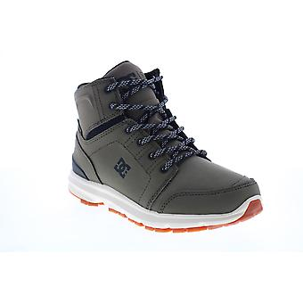 DC Torstein  Mens Green Nubuck Lace Up Casual Dress Boots