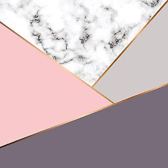 Rosa de la felicidad 2 alfombras multicolores impresas en poliéster, algodón, L80xP200 cm