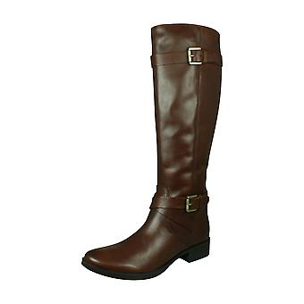 Geox D Mendi St D Womens Leather Tall Boots - Brown
