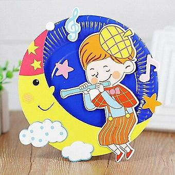 Paper Disc Painting, Kindergarten Material Package Plate, Sticker, Puzzle