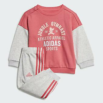 Adidas Infant Girls Graphic Terry Tracksuit - ED1171