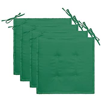 cuscino sedia da giardino vidaXL 4 pezzi. verde 40×40×3 cm