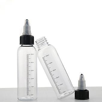 5pcs 30ml-250ml Plastic Pet E Juice Liquid Capacity Dropper Bottles