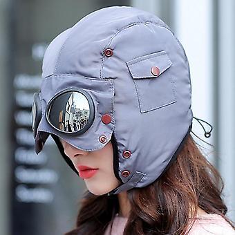 Мода Теплая шляпа, женщины Зимние лыжи Открытый езда очки Cap, Родитель-ребенок