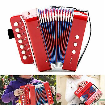 7-Key 3 Bass Accordion Educational Childrens Kids Beginner Practice Mini Music Instrument Band Toy