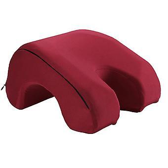 Espuma de memoria acostada abajo almohada almuerzo romper la funda de almohada de la siesta de ocio almohada portátil acostado almohada