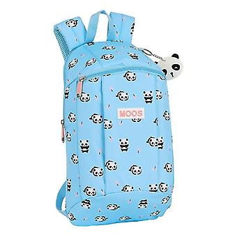Casual Backpack Moos Light Blue