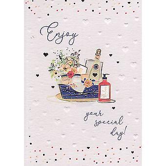 ICG Ltd Pretty In Peach Birthday Card-spa
