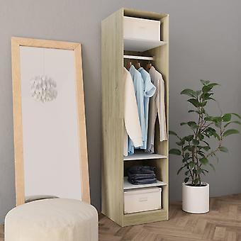 vidaXL armoire blanc chêne Sonoma 50×50×200 cm
