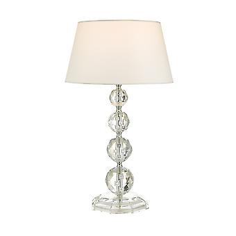 Lampa stołowa Przezroczysta z okrągłym zwężaniem