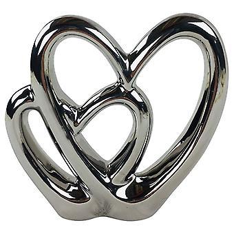 dobbel hjerte ornament 21cm