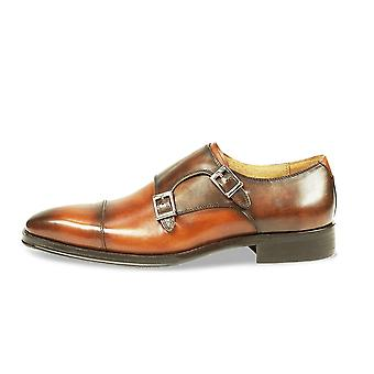 Azor Lombardy Formal Monk Strap Buckle Leather Shoes