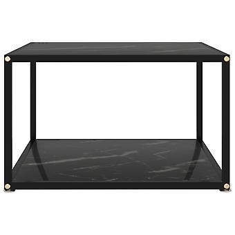 vidaXL Beistelltisch Schwarz 60x60x35 cm Hartglas
