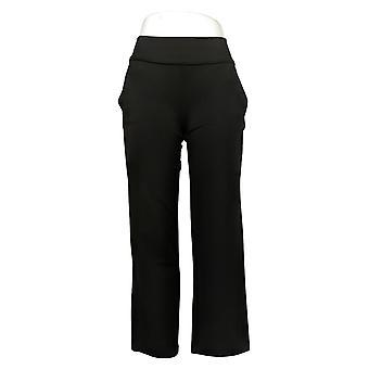 DG2 by Diane Gilman Women's Petite Pants Pull-On Trouser Black 687691
