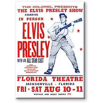 Elvis Live Flat Magnet