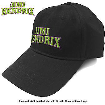 Jimi Hendrix - Arched Logo Men's Baseball Cap - Black