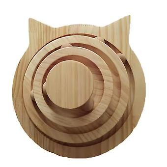 2/3 Layers Cat Turntable Wooden Pet Cat Toys Cat Interactive Game Toys Pet Smart Track With Balls Funny Kitten Toys Pet Supplies