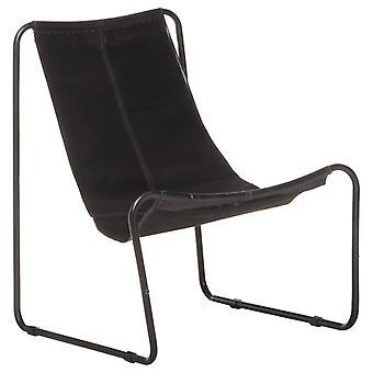 vidaXL الاسترخاء كرسي أسود الجلود الأصلية