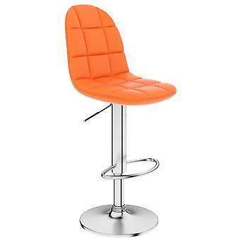 vidaXL Bar Stool Orange Faux Leather