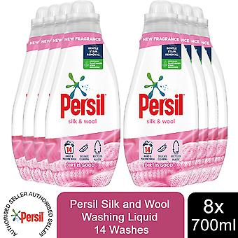 8x 14 Washes Persil Silk and Wool Washing Liquid 700ml, Total 112 Washes