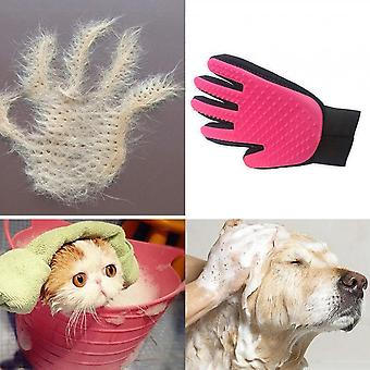 Dogs Cats Hair Removal Grooming Five Finger Bathing Gloves Massage Supplies