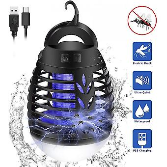 Outdoor Lighting - Mosquito Repellent Lamp, 2 In 1 Lantern Camping Tent Led Mosquito Trap Lamp