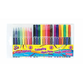 ArtBox Colouring Pens Set (Pack of 24)