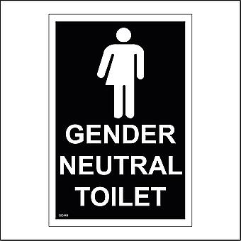 GE449 Gender Neutral Toilet Sign with Person