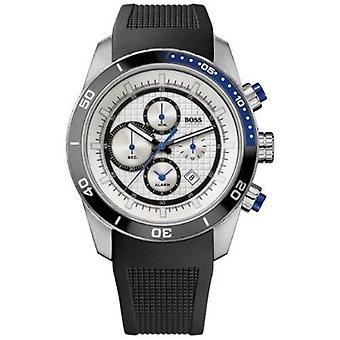 Hugo Boss 1512660 White Dial Rubber Strap Men's Sports Watch
