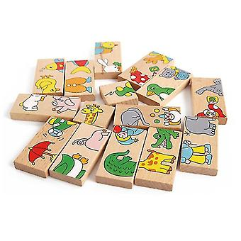 Printed Wooden Domino-building Blocks