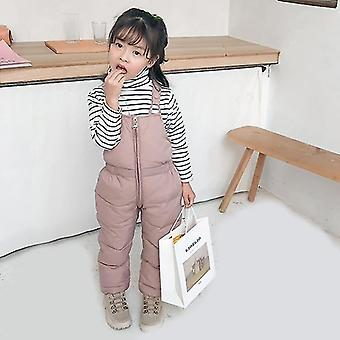 Children  Warm Overalls  & Thick Pants With Cotton Filling