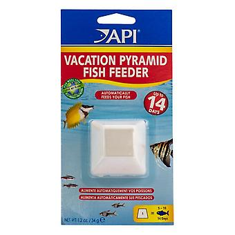 API 14 Day Vacation Pyramid Fish Feeder - Feeds up to 15-20 fish in a 10 gallon tank for 7 to 8 days