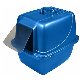 Van Ness Enclosed Cat Litter Pan with Zeolite Air Filter - X-Large Blue