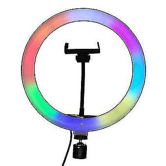מצלמה פלאש אביזרים 10 אינץ' RGB טבעת אור מנורת יופי אור