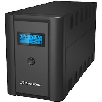 PowerWalker VI 2200 SHL UPS, 2xSchuko, 2200 VA, 0.55 OF, svart