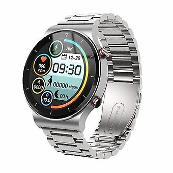 Smart watch men watches Heart rate monitor bluetooth call headset Smart Watches( silver Nsteel)