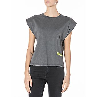 Replay Women's The Forty Years T-Shirt Boxy Fit