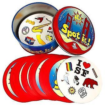 8 + Dobble spot it karetní hra se zvířaty, abecedami a čísly(O)