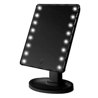 Rotazione a 360 gradi makeup mirror regolabile 16/22 led illuminato led schermo portatile luminoso